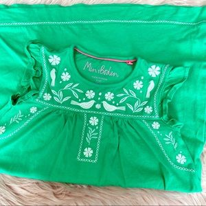EUC Mini Boden Embroidered Dress   Girls 9-10Y